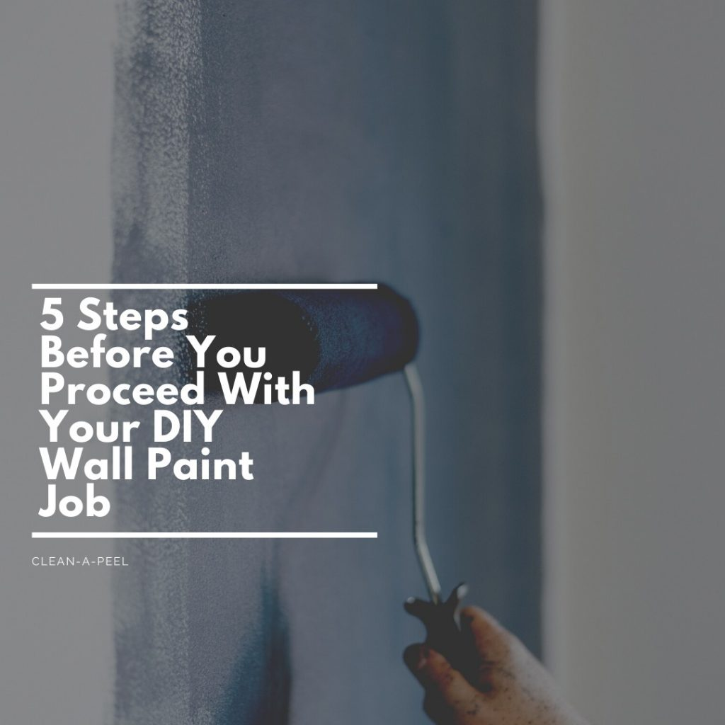 5 Steps Before You Proceed With Your DIY Wall Paint Job
